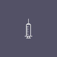 syringe icon for medicine