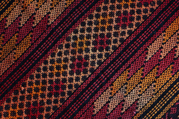 Woven fabric with traditional guatemalan pattern