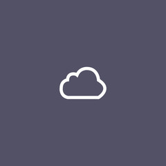 cloud icon for web and mobile app