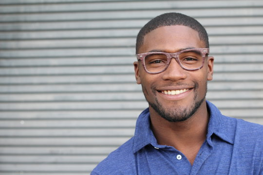 Handsome male with glasses portrait