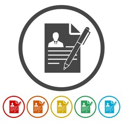 CV icon, CV resume icon