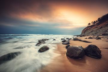 Aluminium Prints New Zealand Beautiful sunrise over the sea