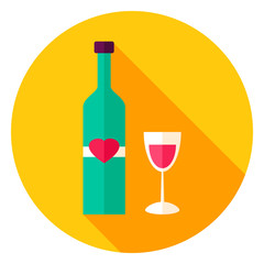 Lovely Wine Circle Icon
