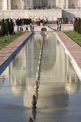 Taj Mahal, Agra, India, Reflection in the Pool