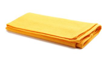 Folded napkin on white background
