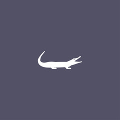 crocodile icon. animal sign