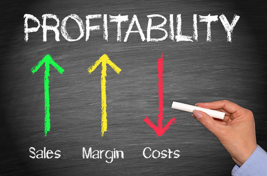 Profitability Business Performance Concept with arrows and text