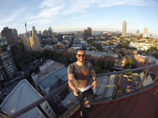 Self-Portrait of a Young Man in Sydney Terrace, Australia