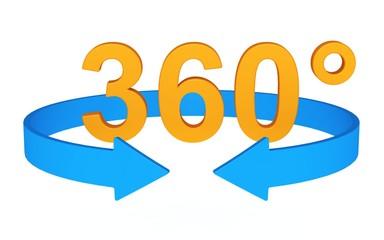 360 Grad 3D-Symbol 2