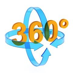 360 Grad 3D-Symbol 3