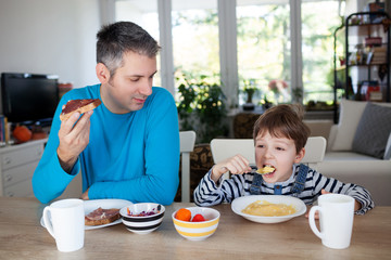 Father and son breakfast
