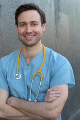 Doctor smiling with arms crossed