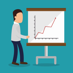 business people with paperboard training icon vector illustration design
