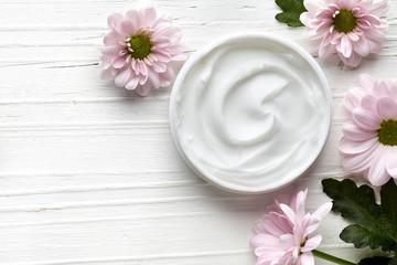White cosmetic cream