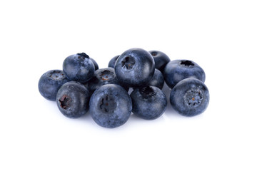 fresh blueberries isolated on white background