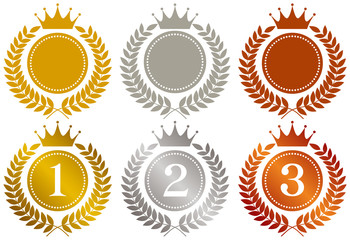 王冠 金メダル 銀メダル 銅メダル