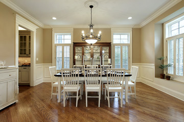 Dining room with large buffet