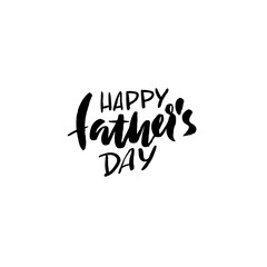 Happy Father's Day inscription. Vector illustration. Father's Day greeting card logo template. Happy fathers day lettering.