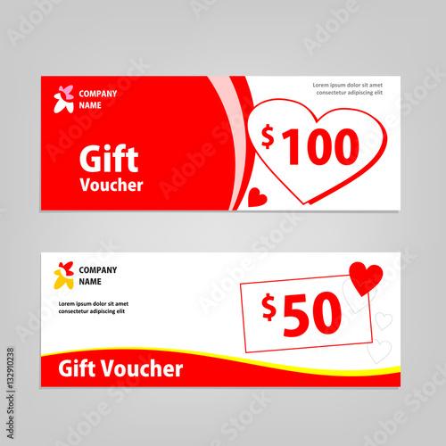 Valentine Gift Voucher card template design Concept for retail – Voucher Card Template