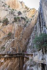 Crevice at Gorge of the Gaitanes and Caminito del Rey path, Mala