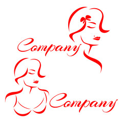 Beautiful woman's face logo
