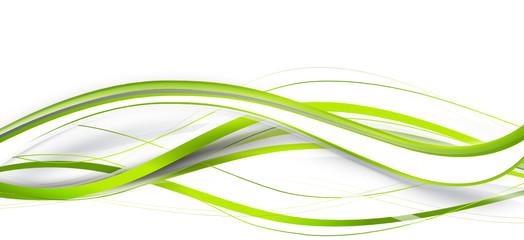 welle grün band banner hintergrund