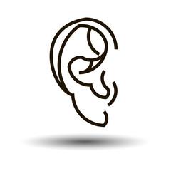 ear vector sound symbol human white sense