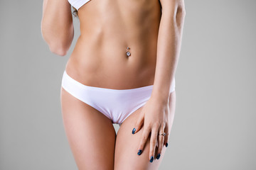 Body part white fitness underwear