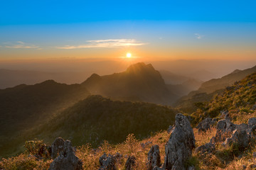 nature :  Mountains during sunset. Beautiful natural landscape i