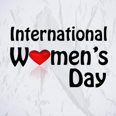 Illustration of Floral Women's Symbol for International Women's Day