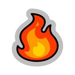 Fire Simple Cartoon Vector Illustration