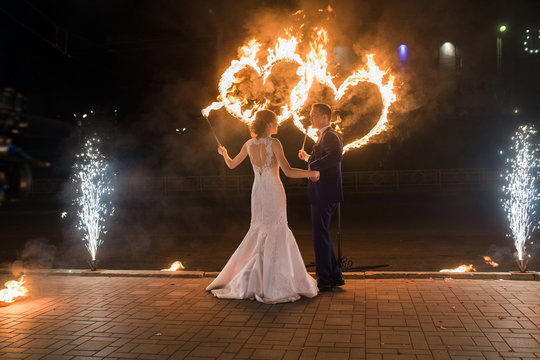set fire to the couple