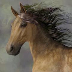 3D illustration of a horse