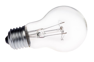 incandescent electric lamp isolated on white