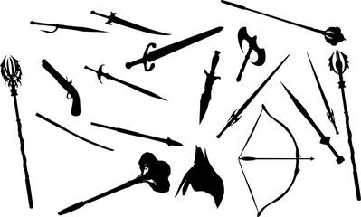 RPG系武器のシルエット