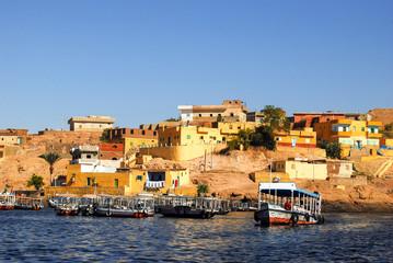 Boote auf Nil bei Assuan