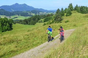 Beim Mountainbiken im Ostallgäu