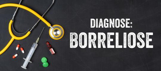 Stethoskop und Medikamente - Borreliose