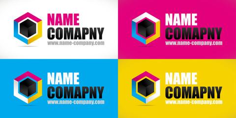 logo artisan peintre décorateur conseil cube couleurs imprimeur