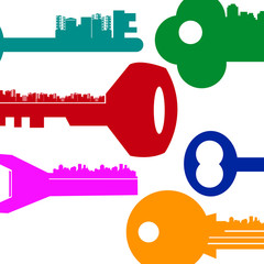 key house vector symbol door lock icon