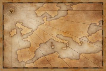 old vintage Europe map background
