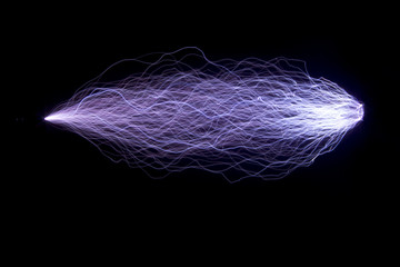 Artificially created spark discharges.