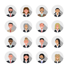 People icons. Business people set