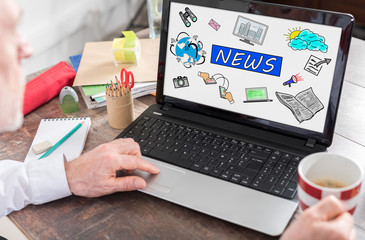 News concept on a laptop screen