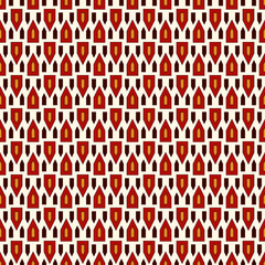 Seamless pattern with bright stylized triangles on white background. Repeated geometric figures wallpaper.