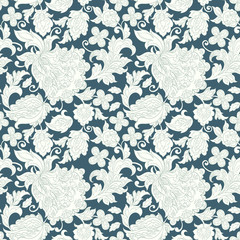 Floral oriental ethnic Pattern. Seamless Arabic Ornament. fabric pattern