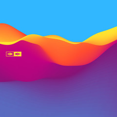 3D Wavy Background. Dynamic Effect. Vector Illustration.