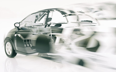 Car breaks through the speed - 3D Rendering