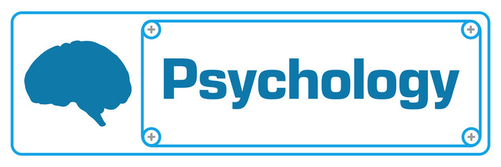 Psychology Blue Horizontal Border Screw
