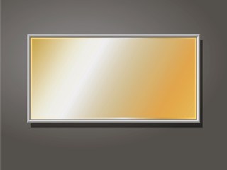 editable gold company in the frame plate